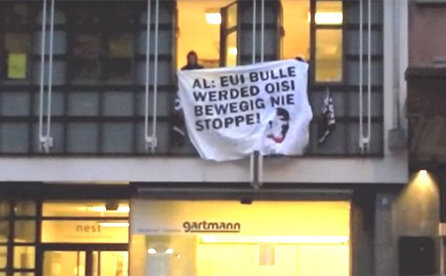 Die Revoltion ist nicht mehr aufzuhalten! Ich schwör! Besetzung des Parteibüros der AL.