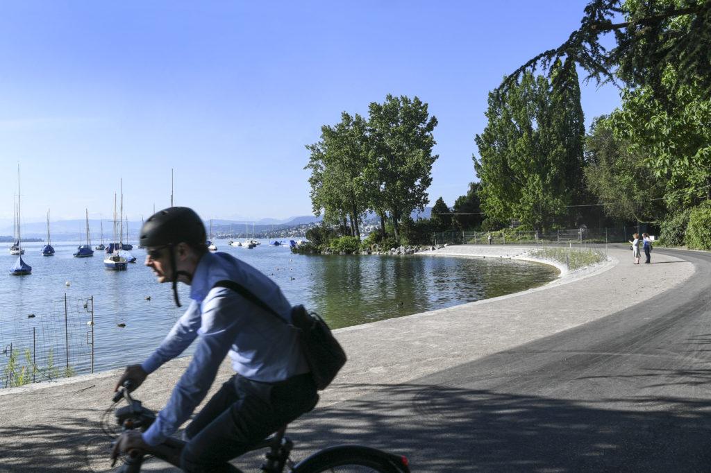 Fünf Millionen Franken hat sich die Stadt das neue Ufer des 130 Jahre alten Arboretums zwischen Hafen Enge und General-Guisan-Quai kosten lassen. Nun ist es wieder im Originalzustand. Pensionär Gütner Kiebert hat dennoch eine Kritik. (Foto: Doris Fanconi) Zum Artikel