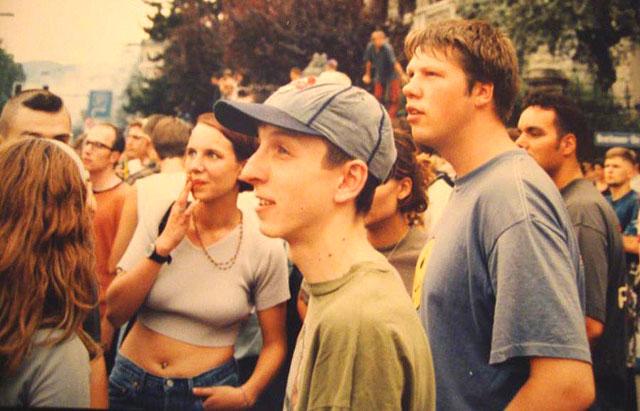Ueli alias Manuel Mind ca 1995 mit Chäppi-