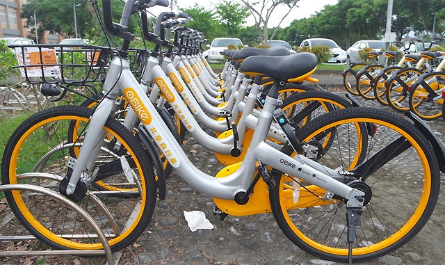 Sind nur Vorwand, um Daten zu sammeln: Die Bikes von oBike.