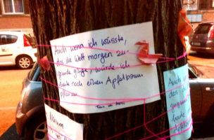 Anwohner wehren sich für ihre Bäume.