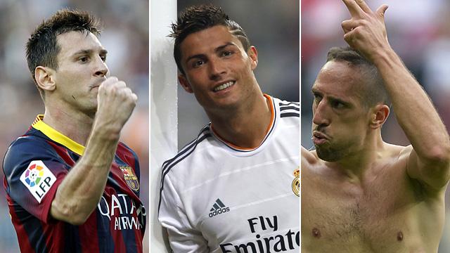 Messi Ronaldo Ribéry