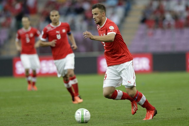 Haris Seferović während des Spiels der Nati gegen Zypern, 8. Juni 2013. (Keystone/Salvatore Di Nolfi)