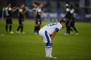 FCZ-Spieler Davide Mariani nach einer Niederlage gegen Aarau, 26. September 2013. (Keystone/ Steffen Schmidt)