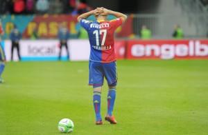 Raul Bobadilla nach einem verschossenen Penalty, 20. Mai 2013. (Keystone/Steffen Schmidt)