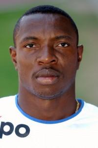 Der inzwischen verstorbene nigerianische Fussballer Lucky Isibor, 1. Juli 2002. (Keystone/Walter Bieri)