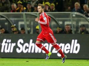 Platz 1 für Mario Götze: Hier an einem Bundesligaspiel gegen Borussia Dortmund, 23. November 2013. (Bild: Keystone/ Friso Gentsch)