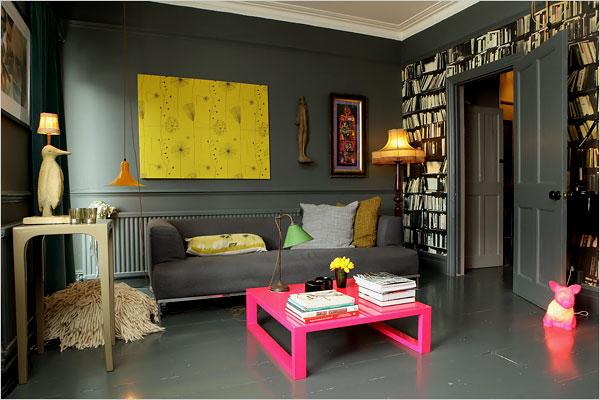 wohnen mit neonfarben sweet home. Black Bedroom Furniture Sets. Home Design Ideas