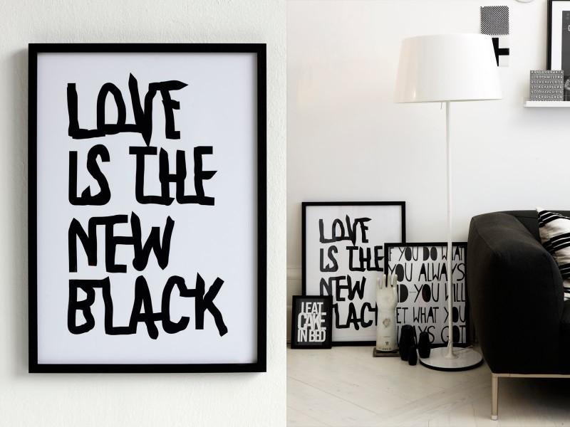 wohnen in schwarz und weiss sweet home. Black Bedroom Furniture Sets. Home Design Ideas