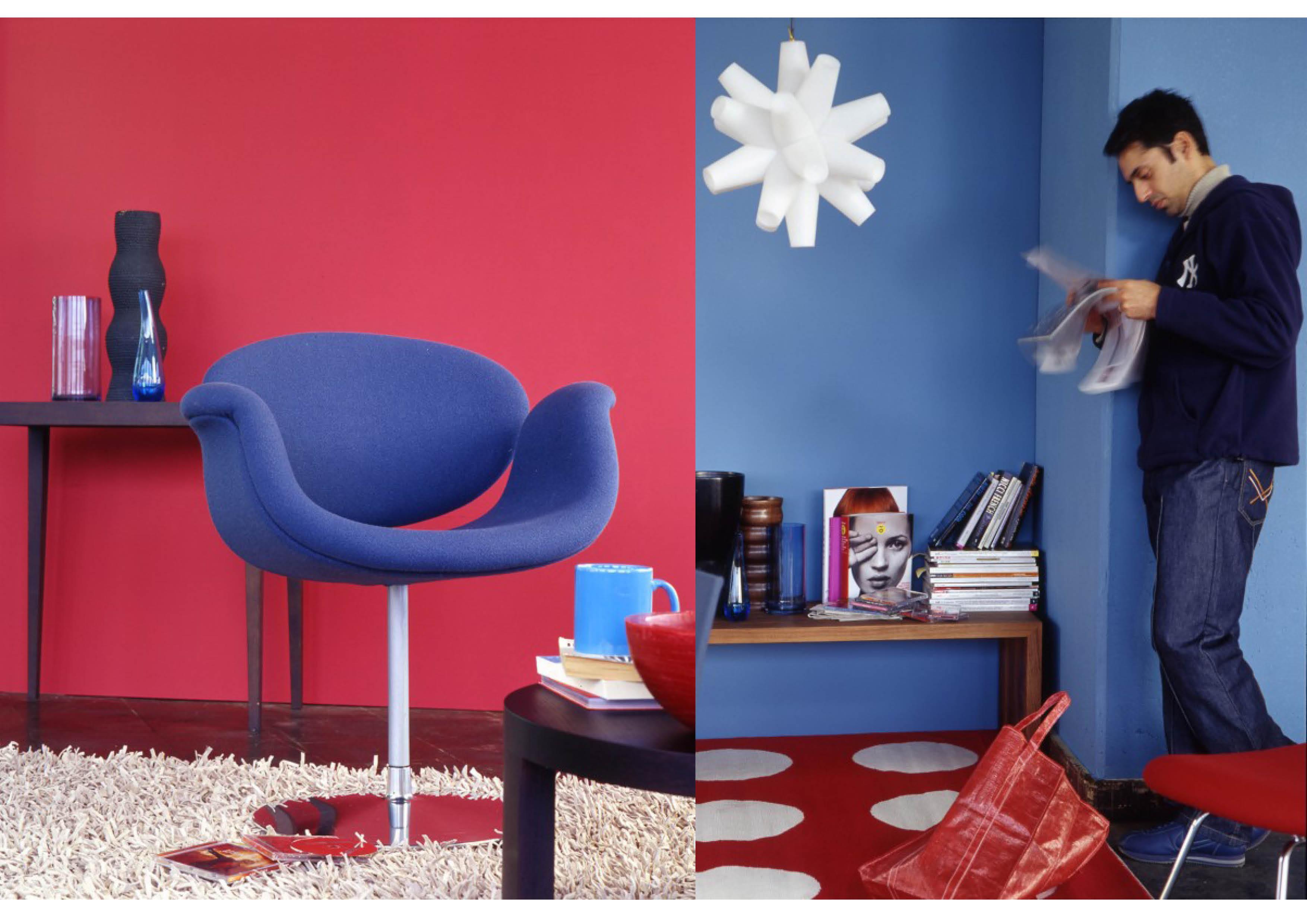 rot und blau ein starkes paar sweet home. Black Bedroom Furniture Sets. Home Design Ideas