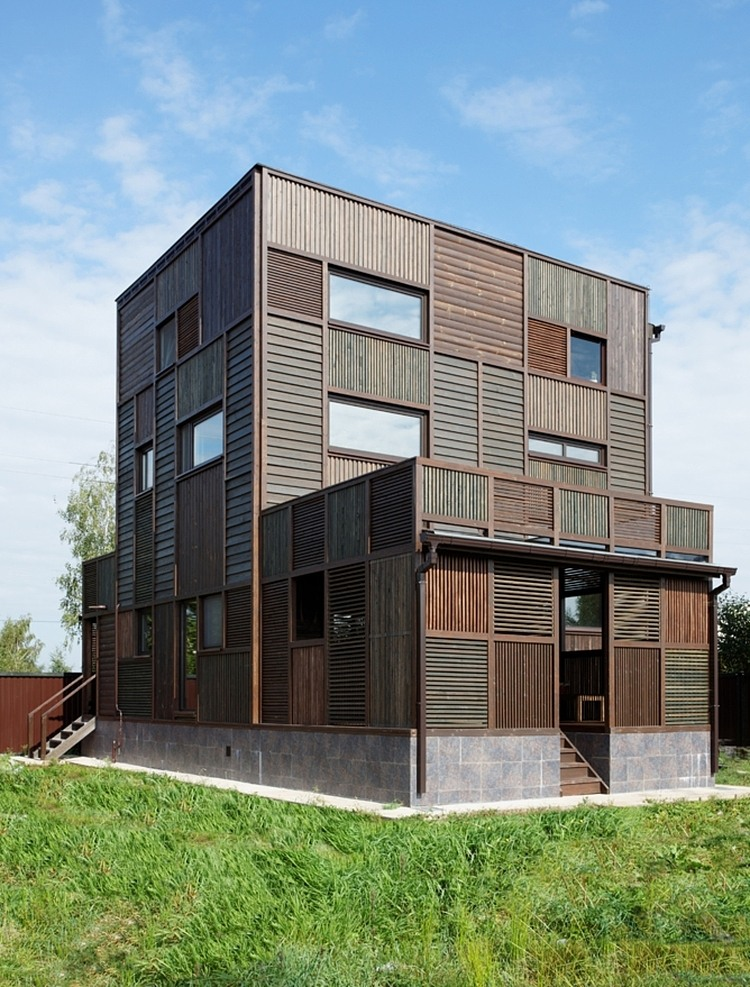 Ein patchworkhaus aus holz sweet home for Ch homes