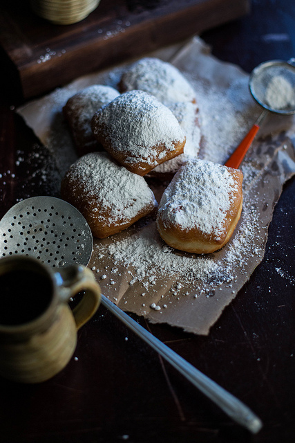 ... beignets with herbed yogurt baked beignets with chicory coffee sauce