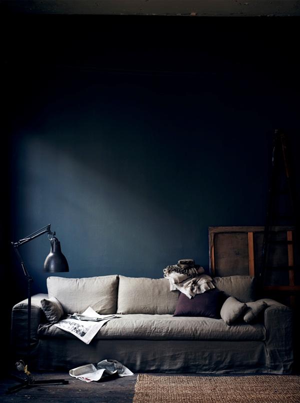 Mitternachtsblau - Zauberhafte Wohnfarbe | Sweet Home Farbige Wnde Ideen