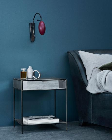 Mitternachtsblau zauberhafte wohnfarbe sweet home Schlafzimmer streichen farbe