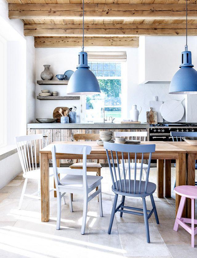 Stühle Streichen farbe um den tisch home