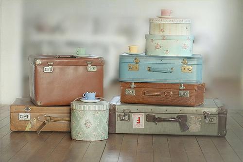 Sweet home - Alte koffer dekorieren ...