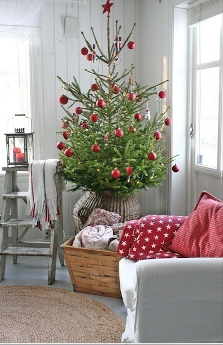 Die 15 sch nsten weihnachtsb ume sweet home for Weihnachtsbaum rot silber
