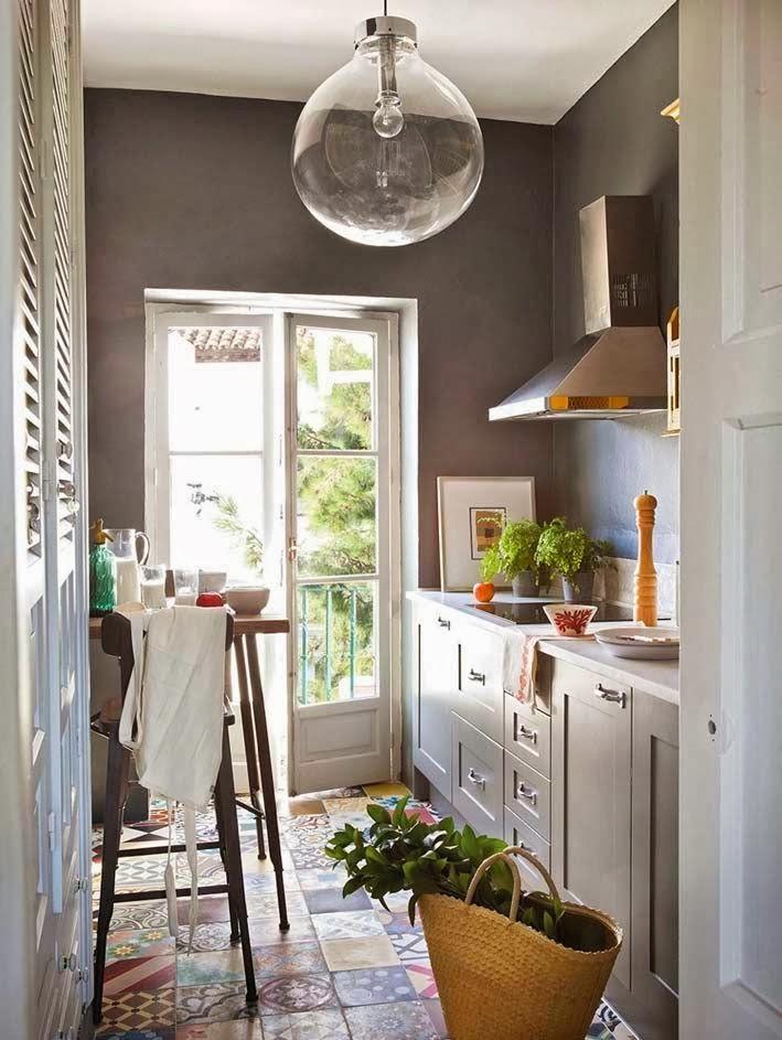 Essen in der k che sweet home for Cocinas en color gris claro