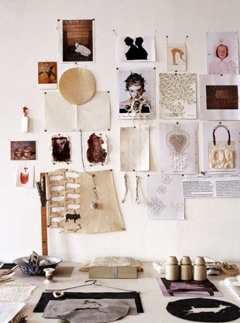 Moodboards inspiration an der wand sweet home - Board deco kamer ...