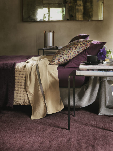 SOCIETY LIMONTA_BEDDING SET_LITE DROP PILLOW CASE_CUPO SHEET_TOKI BED COVER_PURPLE MIRTILLO_FW 2016