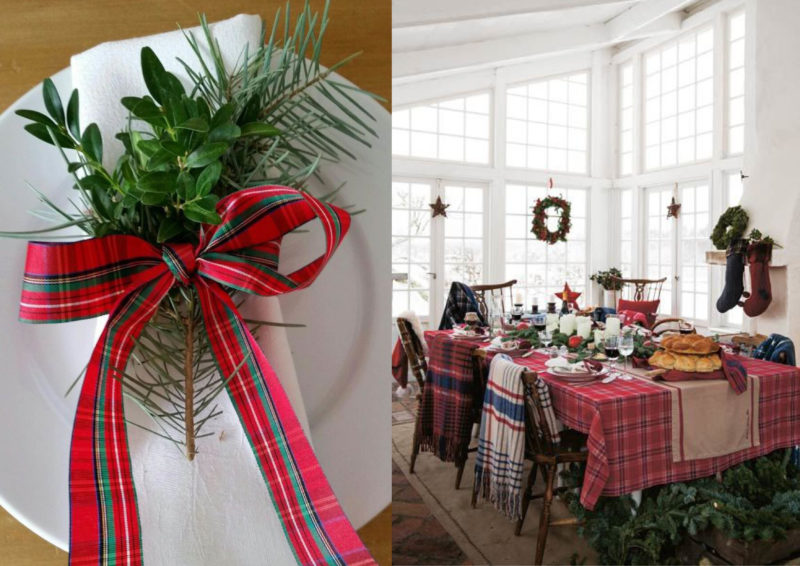 die sch nsten dekorationsideen f r den weihnachtstisch. Black Bedroom Furniture Sets. Home Design Ideas