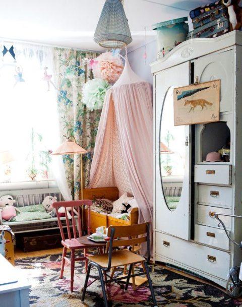 Kinderzimmer im boho style sweet home for Schlafzimmerschrank vintage