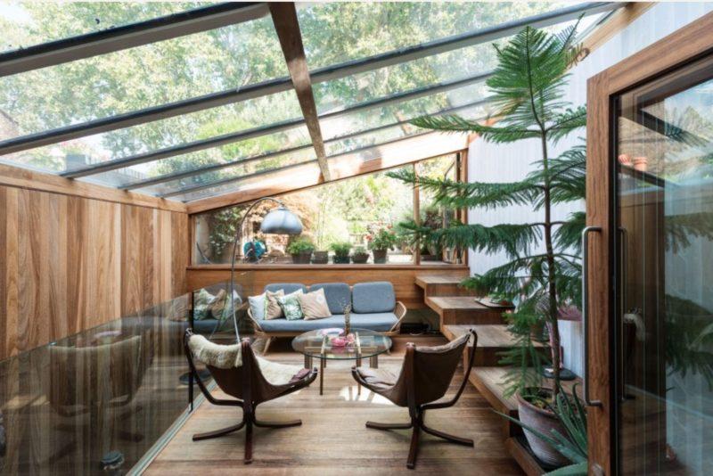 So wohnen k nstler - Wintergarten einrichtung modern ...