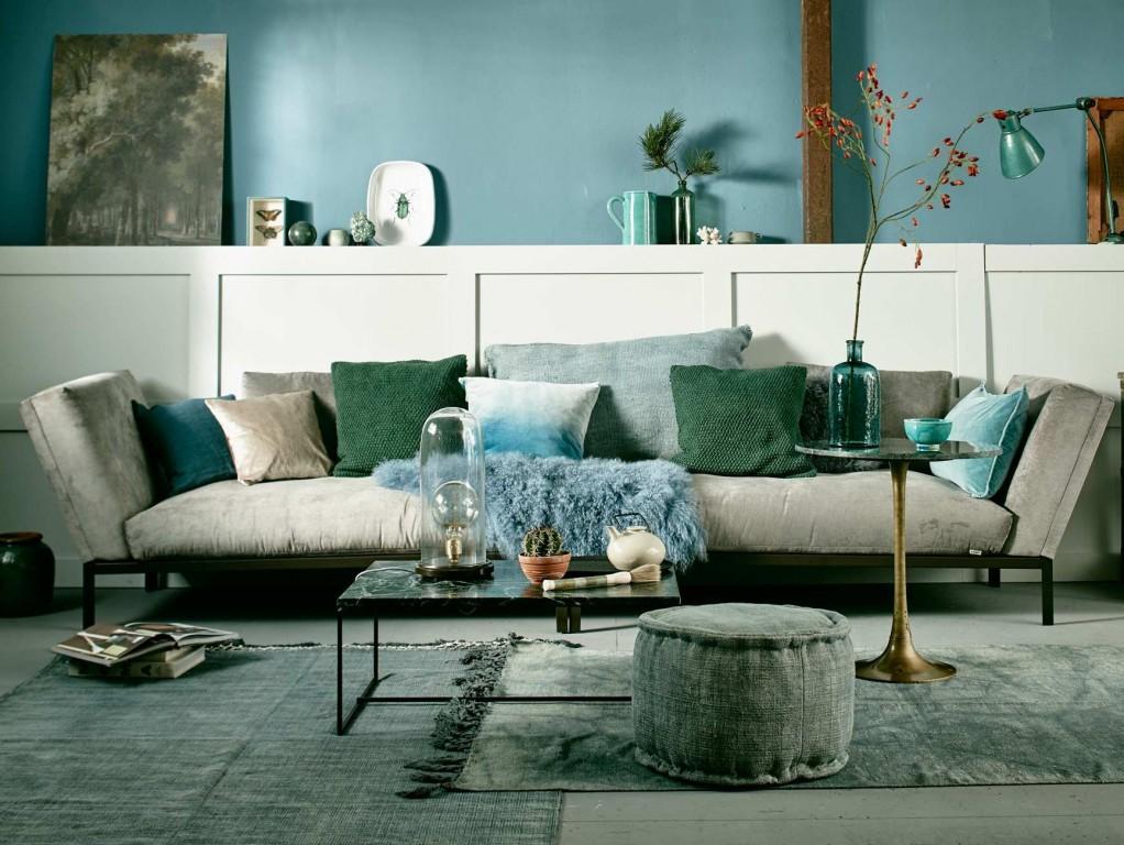 Seegr n und meerblau for Accessoire deco salon
