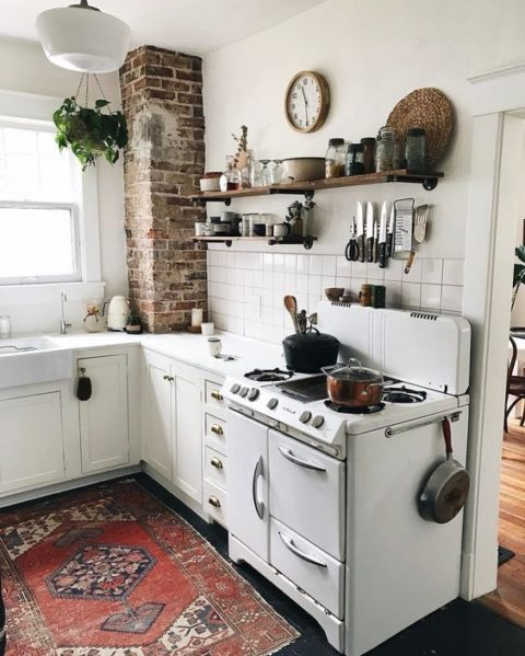 Lora S Vintage Style Kitchen Makeover: Ungewohnt Wohnlich