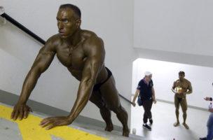 Sport sollte eigentlich Freude machen: Dieser Bodybuilder hat sie offensichtlich verloren. (Foto: Keystone)