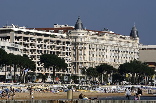 View of the Croisette in Cannes