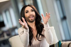 Conchita Wurst in new facebook headquarters
