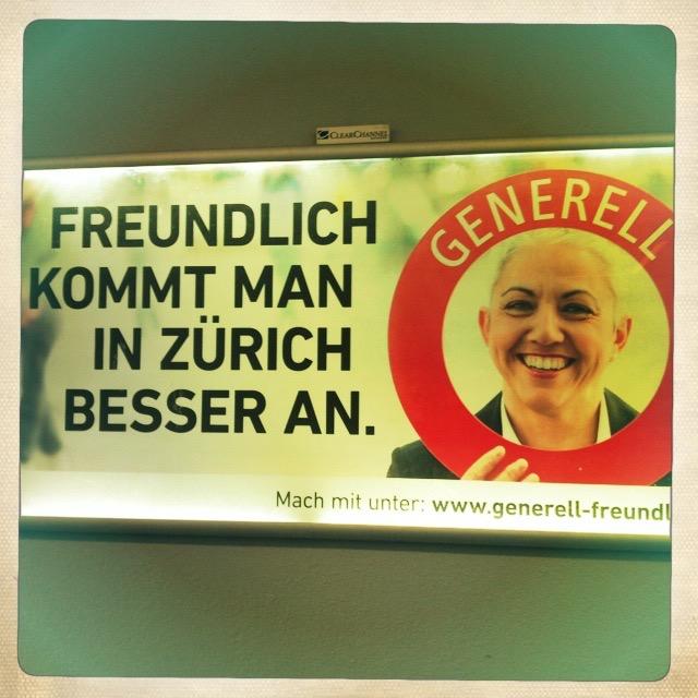 Ist Zürich generell freundlich?