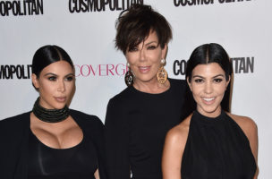 Kim Kardashian, from left, Kris Jenner and Kourtney Kardashian arrive at Cosmopolitan magazine's 50th birthday celebration at Ysabel on Monday, Oct. 12, 2015, in West Hollywood, Calif. (Photo by Jordan Strauss/Invision/AP)