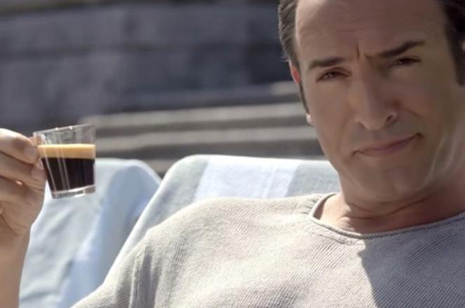 Jean Dujardin im Nespresso-Werbespot. (Screenshot)