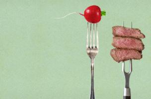 Fleischverweigerung als Identitätsentwurf. (Bild: iStock / Montage Nathalie Blaser)