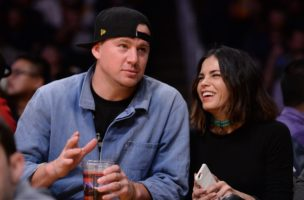 Dec 23, 2015; Los Angeles, CA, USA; Film actor Channing Tatum court side during the fourth quarter of the Los Angeles Lakers game against the Oklahoma City Thunder at Staples Center. Mandatory Credit: Robert Hanashiro-USA TODAY Sports - RTX1ZY98