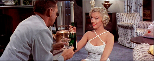 champagne-4-+-Marilyn-Monroe-+-Tom-Ewell-+-Seven-Year-Itch