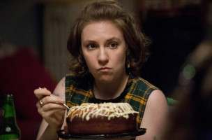 "This publicity image released by HBO shows Lena Dunham in ""Girls.""  Dunham was nominated for a Golden Globe for best actress in a comedy series for her role in "" Girls"" on Thursday, Dec. 12, 2013.  The 71st annual Golden Globes will air on Sunday, Jan. 12. (AP Photo/HBO, Jessica Miglio)"