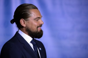 US actor Leonardo DiCaprio poses during the designate ceremony as UN Messenger of Peace at the United Nations September 20, 2014 in New York . The  69th session of the UN General Assembly begins next week. AFP PHOTO /  TIMOTHY  A. CLARY        (Photo credit should read TIMOTHY A. CLARY/AFP/Getty Images)