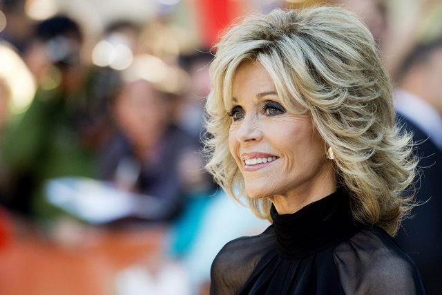 "Actress Jane Fonda poses at the premiere of the film, "" This is Where I Leave You"" during the 2014 Toronto International Film Festival in Toronto on Sunday, Sept. 7, 2014. (AP Photo/The Canadian Press, Nathan Denette)"