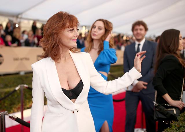 Susan Sarandons offenherziges Décolletée sorgte für mediale Aufregung. (Getty Images)