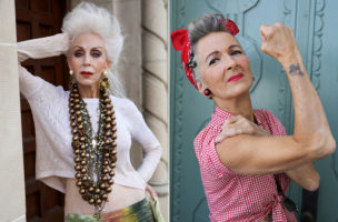 Stilsicher und in Farbe: Ältere Frauen wollen vermehrt wieder sichtbar sein. (Bilder: Advanced Style)