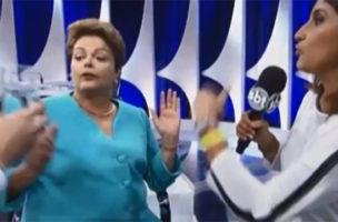 Kein Arzt in der Nähe, viele Fragen in der Luft: Rousseff im Studio.