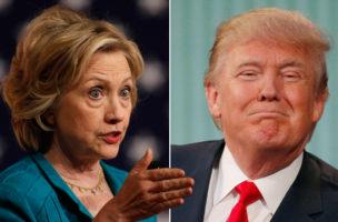 «Endlich ein Kandidat, dessen Haare mehr Aufmerksamkeit als meine erregen»: Hillary linton über Donald Trump. Fotos: Reuters
