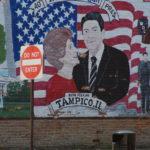 Wandgemälde gegenüber Ronald Reagans Geburtshaus in Tampico, Illinois.