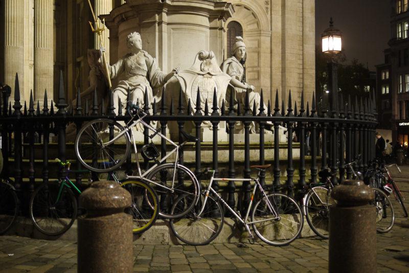 Unterschätztes Fluchtfahrzeug: Velos in der City of London. Foto: Tatsuhiko Miyagawa (Flickr)