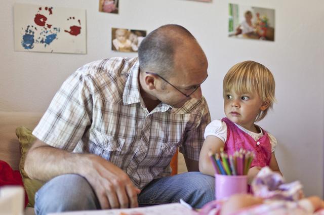 wo hängen einzelne Väter rum