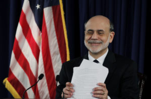 Ben Bernanke am Schluss einer Sitzung der Fed in Washington, 25. April 2012.