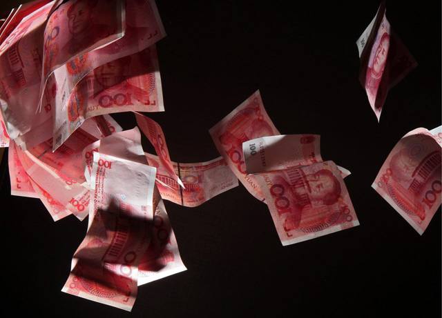 China blutet Geld